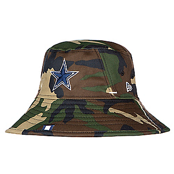 4ced6426e5f Dallas Cowboys New Era Mens Woodland Camo Training Bucket Hat