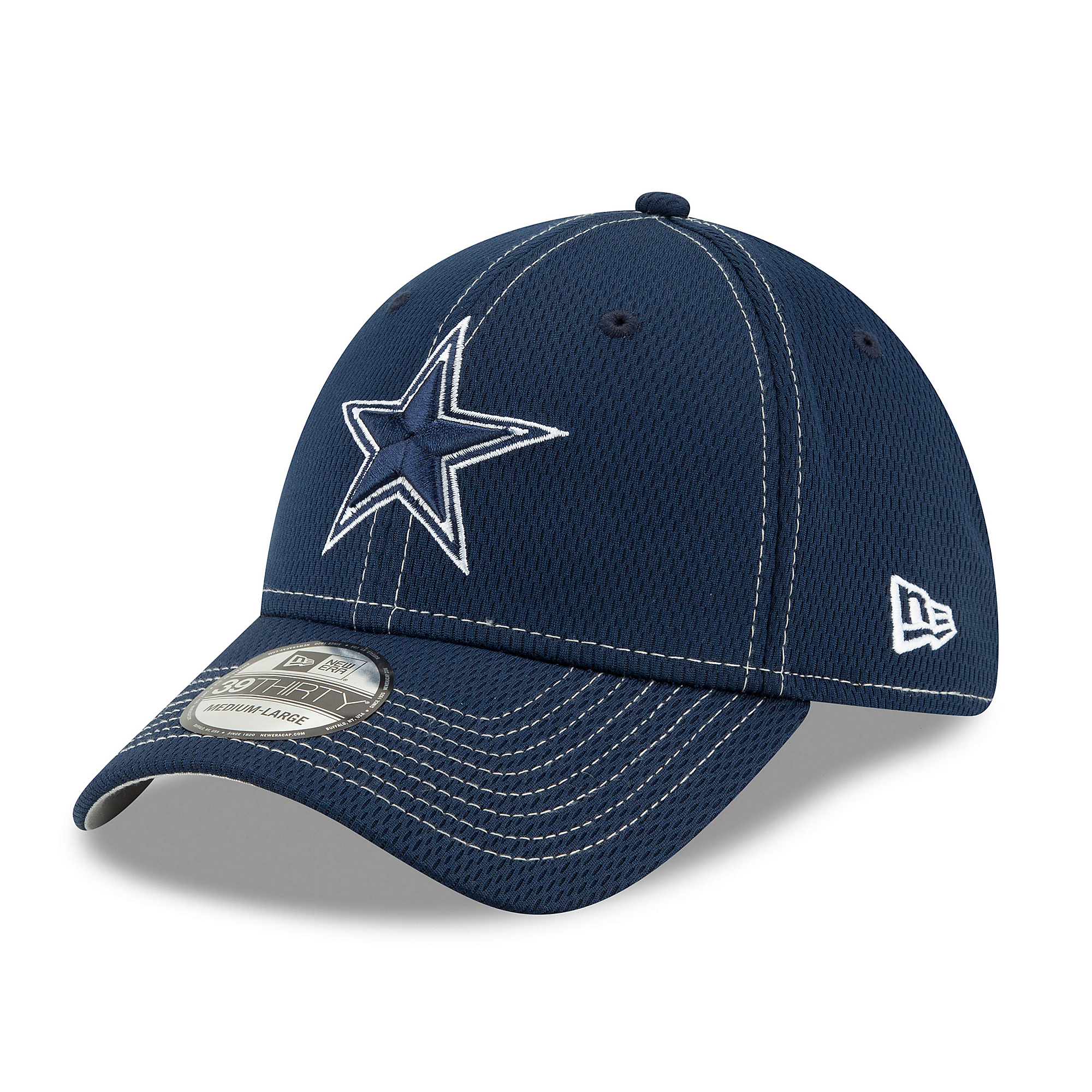Dallas Cowboys New Era Mens Navy On-Field Sideline Road 39Thirty Cap