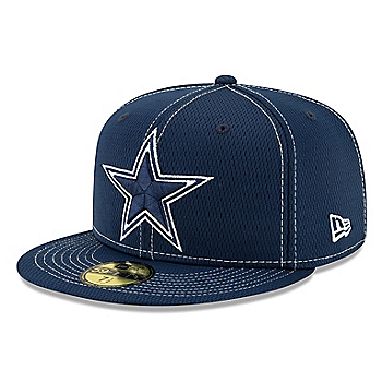 Dallas Cowboys New Era Mens Navy On-Field Sideline Road 59Fifty Cap