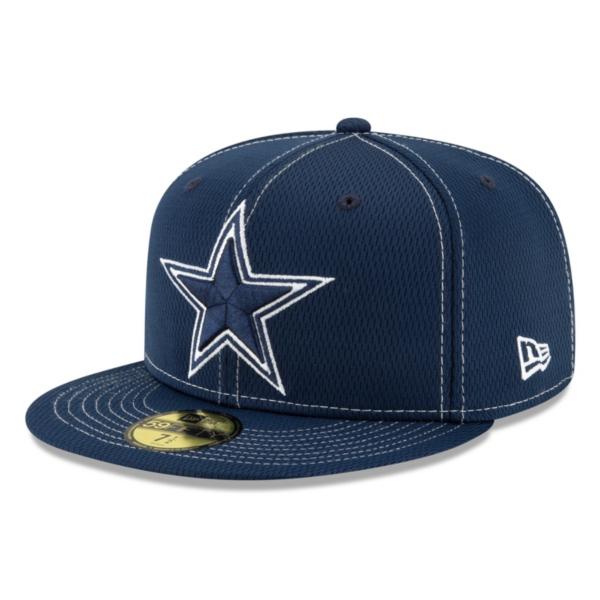 Dallas Cowboys New Era Mens Navy On-Field Sideline Road 59Fifty Hat