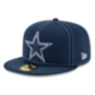 Dallas Cowboys New Era Mens Navy On-Field Sideline Road 59Fifty Hat