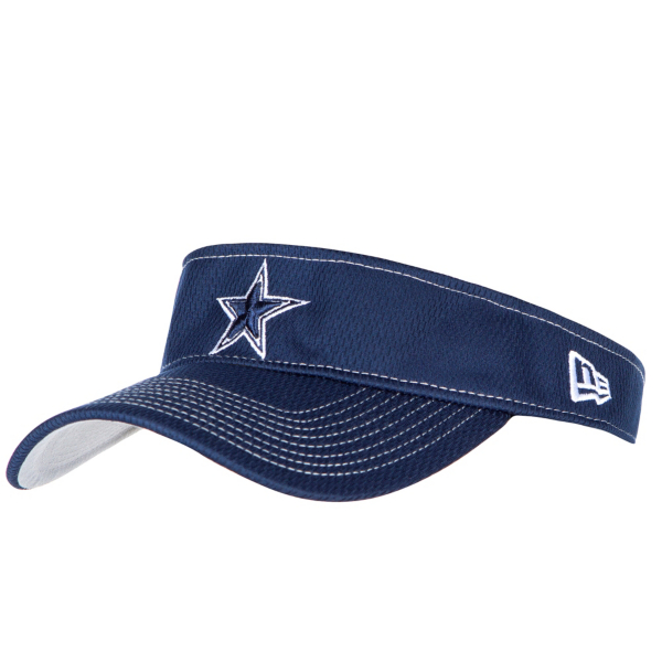 Dallas Cowboys New Era Mens Navy On-Field Sideline Road Visor