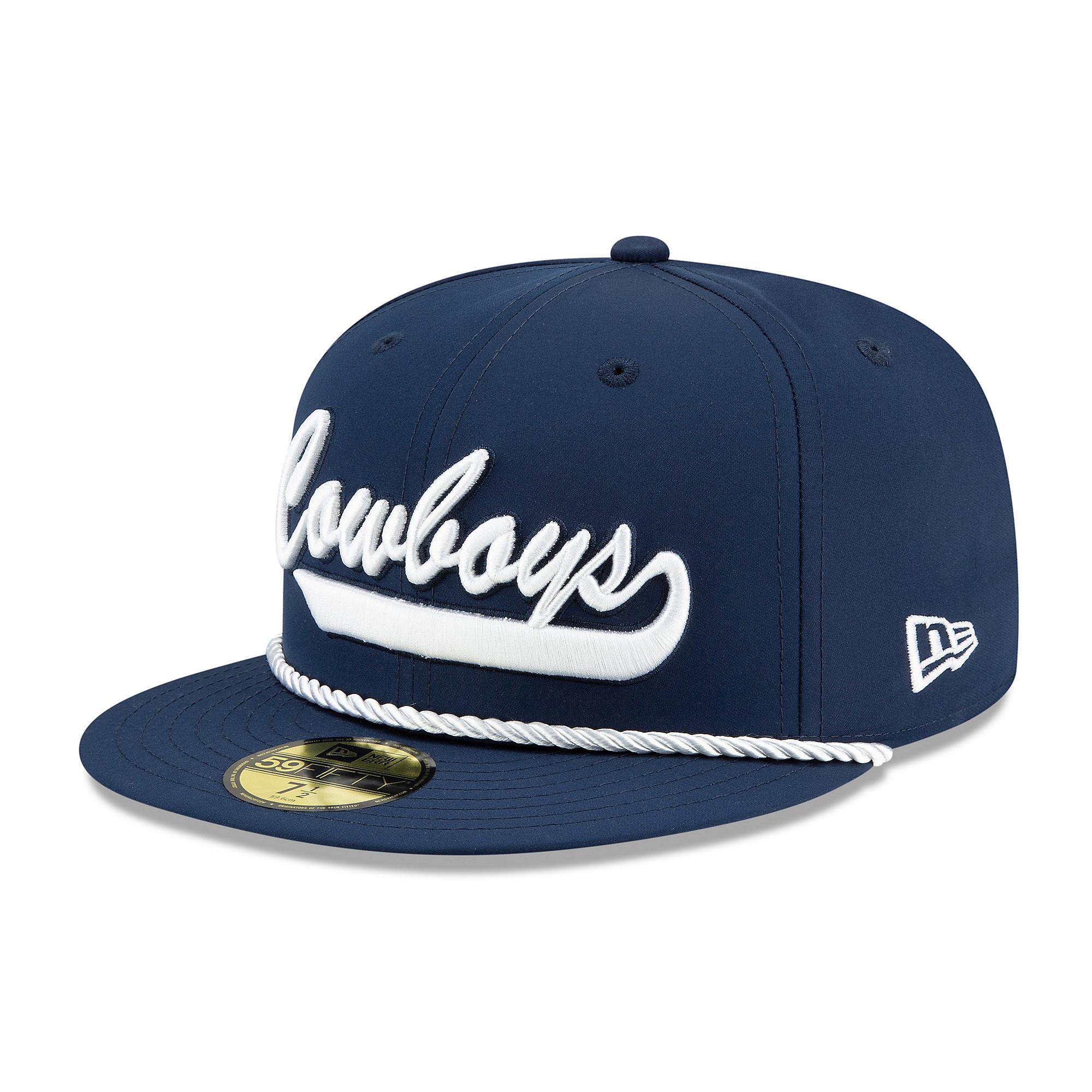 6ac025e2 Dallas Cowboys New Era Mens Navy On-Field Sideline Home 59Fifty Cap ...