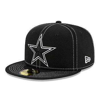 Dallas Cowboys New Era Mens Black Sideline Road 59Fifty Cap