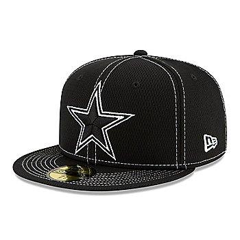 Dallas Cowboys New Era Mens Black Sideline Road 59Fifty Hat