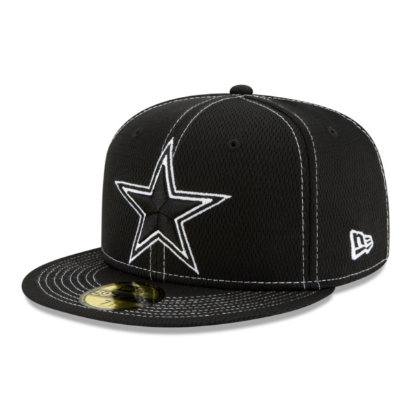 Dallas Cowboys New Era Mens Black Sideline Road 59Fifty Hat