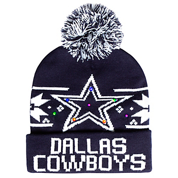 Dallas Cowboys Mens Dasher LED Light Up Knit Hat
