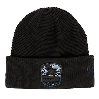 Dallas Cowboys New Era Salute to Service Mens Black Knit Hat