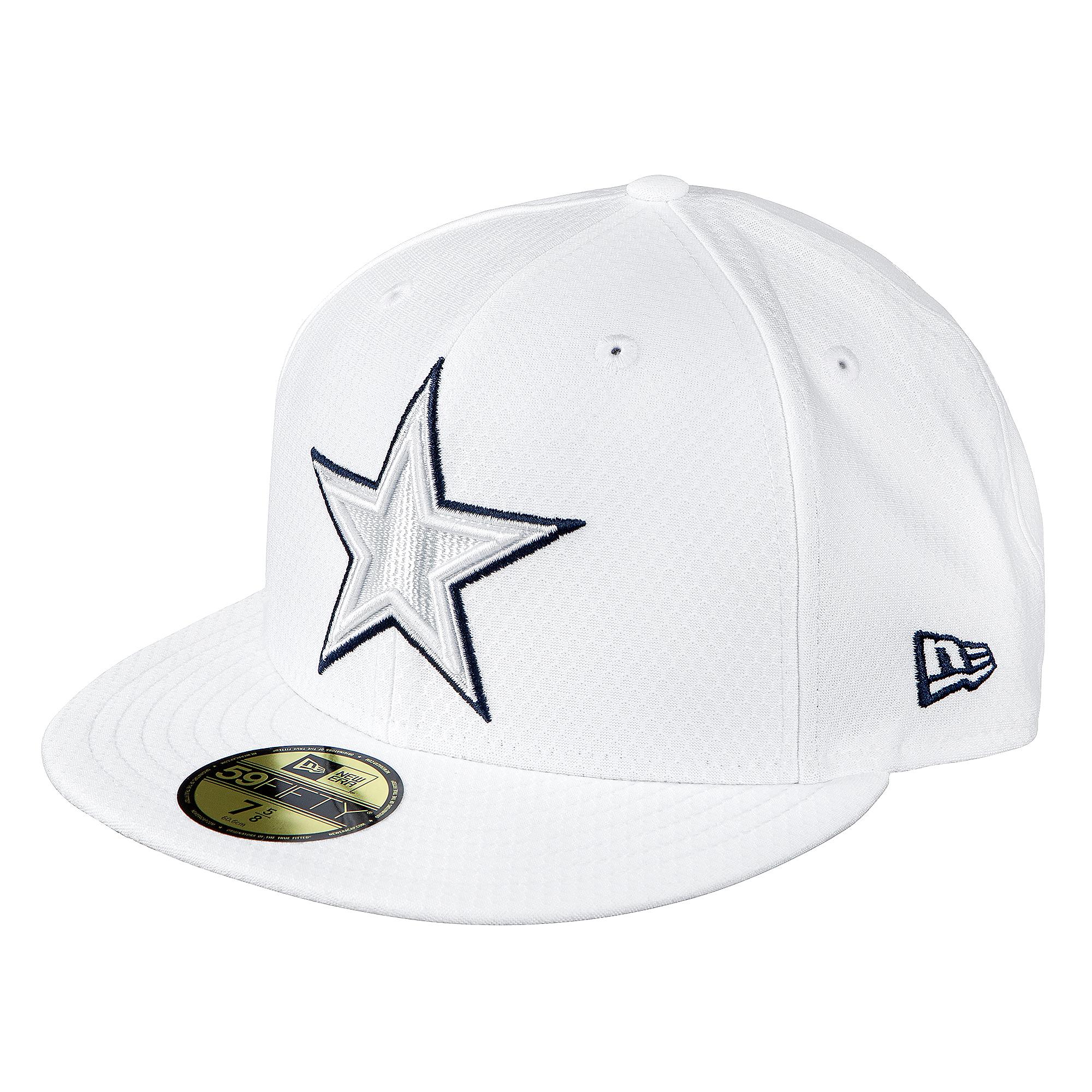 Dallas Cowboys New Era Mens On-Field Platinum 59Fify Cap