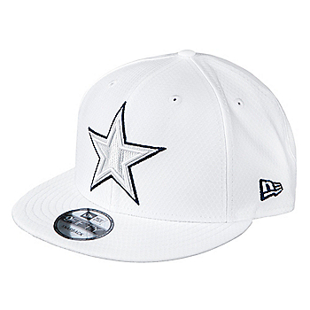 Dallas Cowboys New Era Mens On-Field Platinum 9Fifty Cap