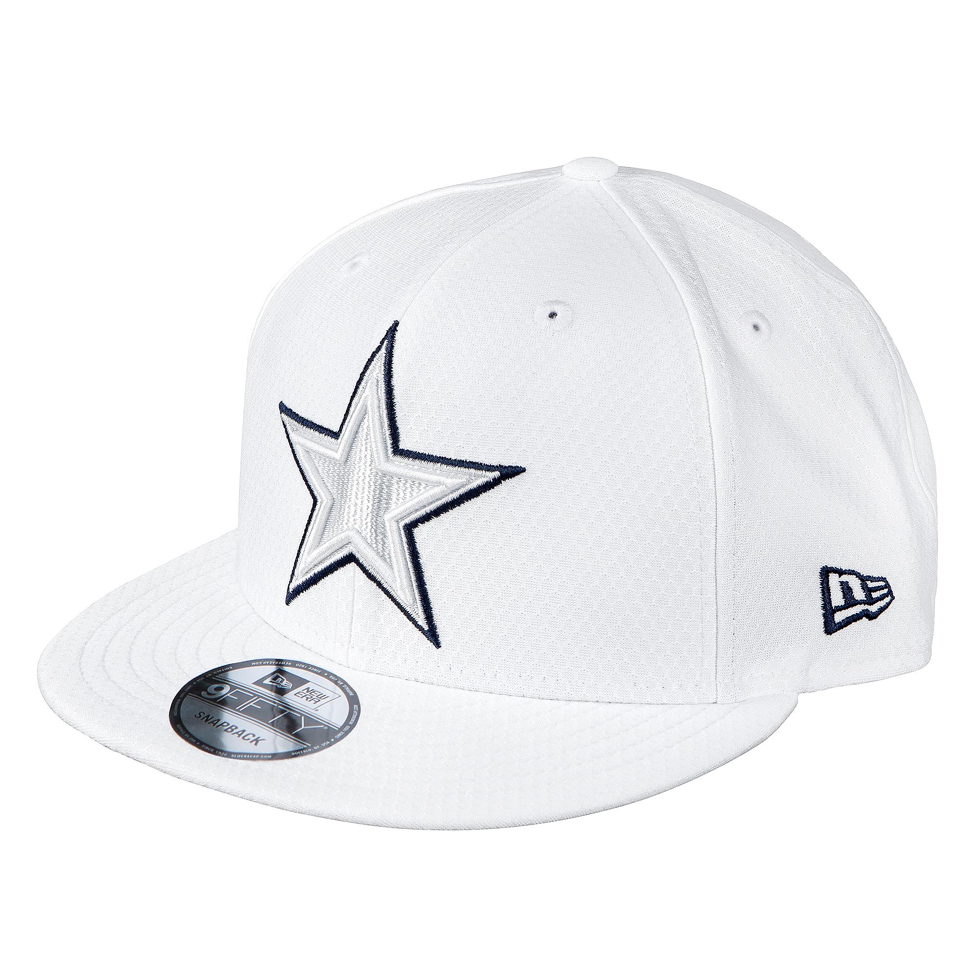 Dallas Cowboys New Era Mens On-Field Platinum 9Fifty Cap