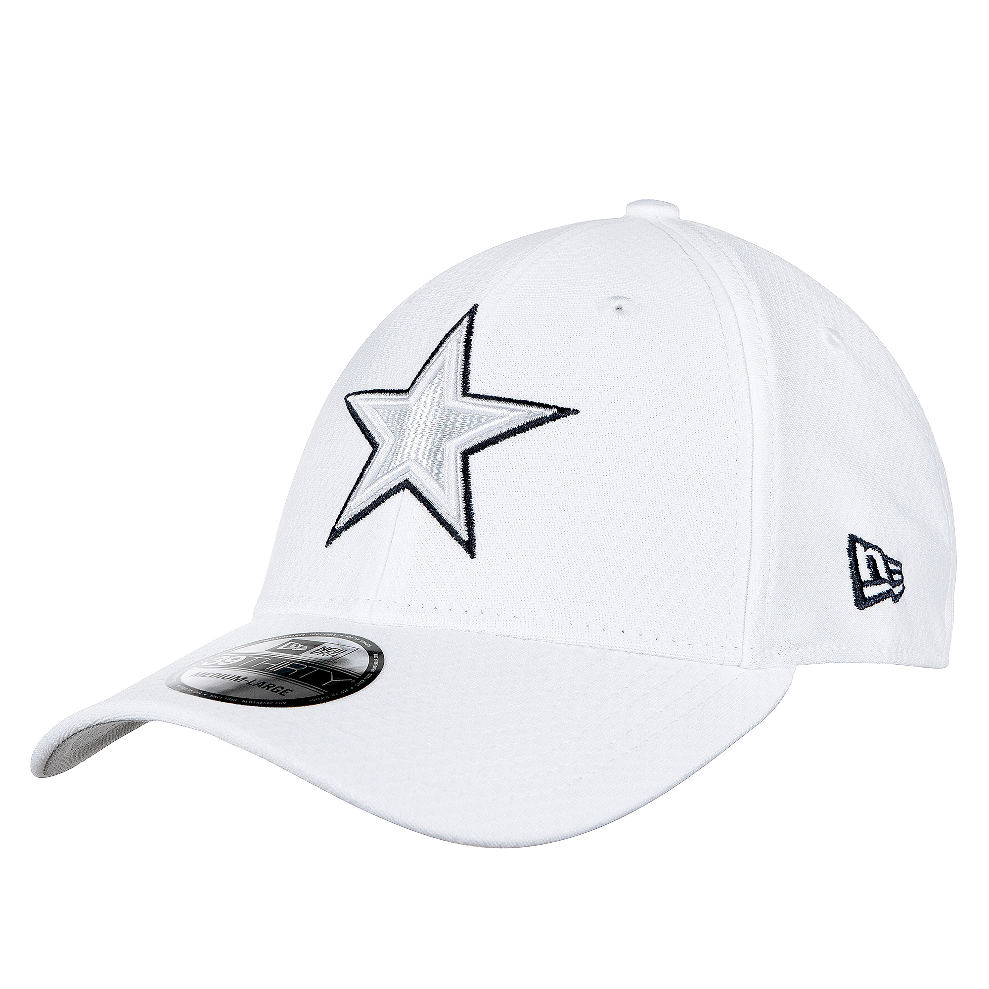 Dallas Cowboys New Era Mens On-Field Platinum 39Thirty Cap