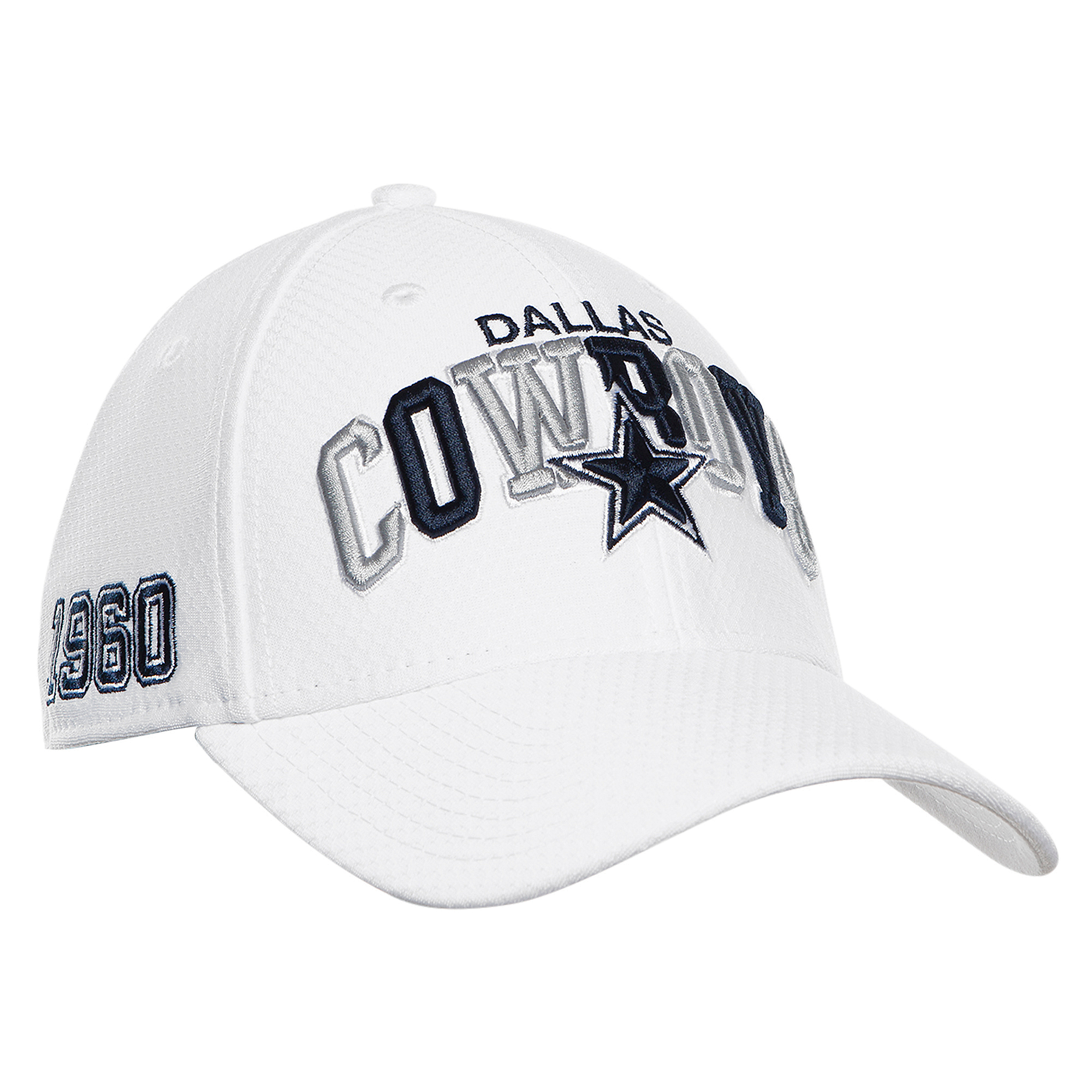 Dallas Cowboys New Era Mens White 1990s Sideline 39Thirty Cap