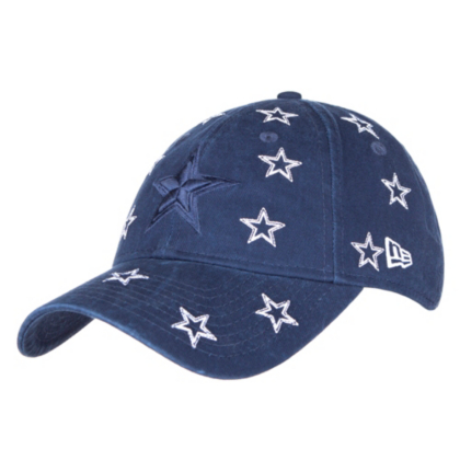 Dallas Cowboys New Era Womens Logo Scatter 9Twenty Cap  37dea12d385