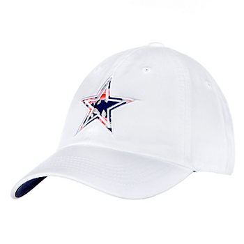 Dallas Cowboys Womens White Fabric Star Cap