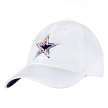 Dallas Cowboys Womens White Fabric Star Hat