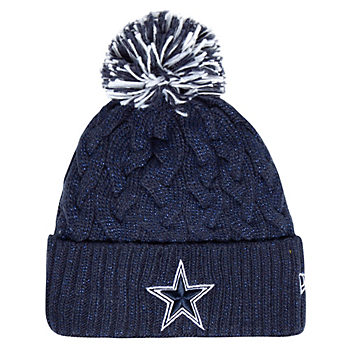 Dallas Cowboys New Era Womens Cozy Cable Knit Hat