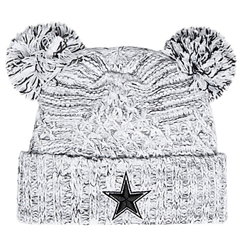 Dallas Cowboys New Era Womens Pom Duel Knit Hat