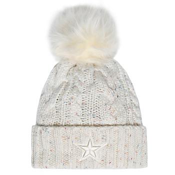 Dallas Cowboys New Era Womens Fuzzy Pom Knit Hat
