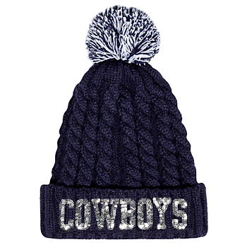 Dallas Cowboys Womens Tinsel Knit Hat