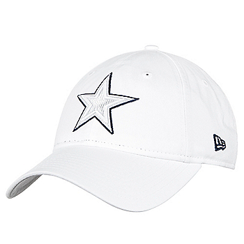 Dallas Cowboys New Era Womens On-Field Platinum 9Twenty Cap