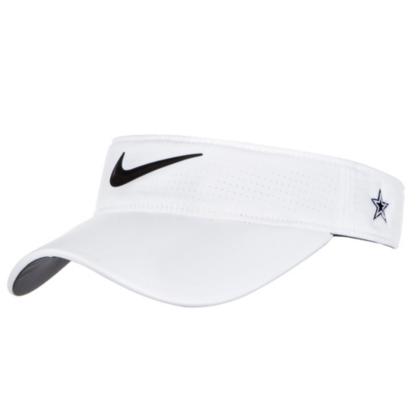 48090219b7700 Dallas Cowboys Nike Womens White AeroBill Visor