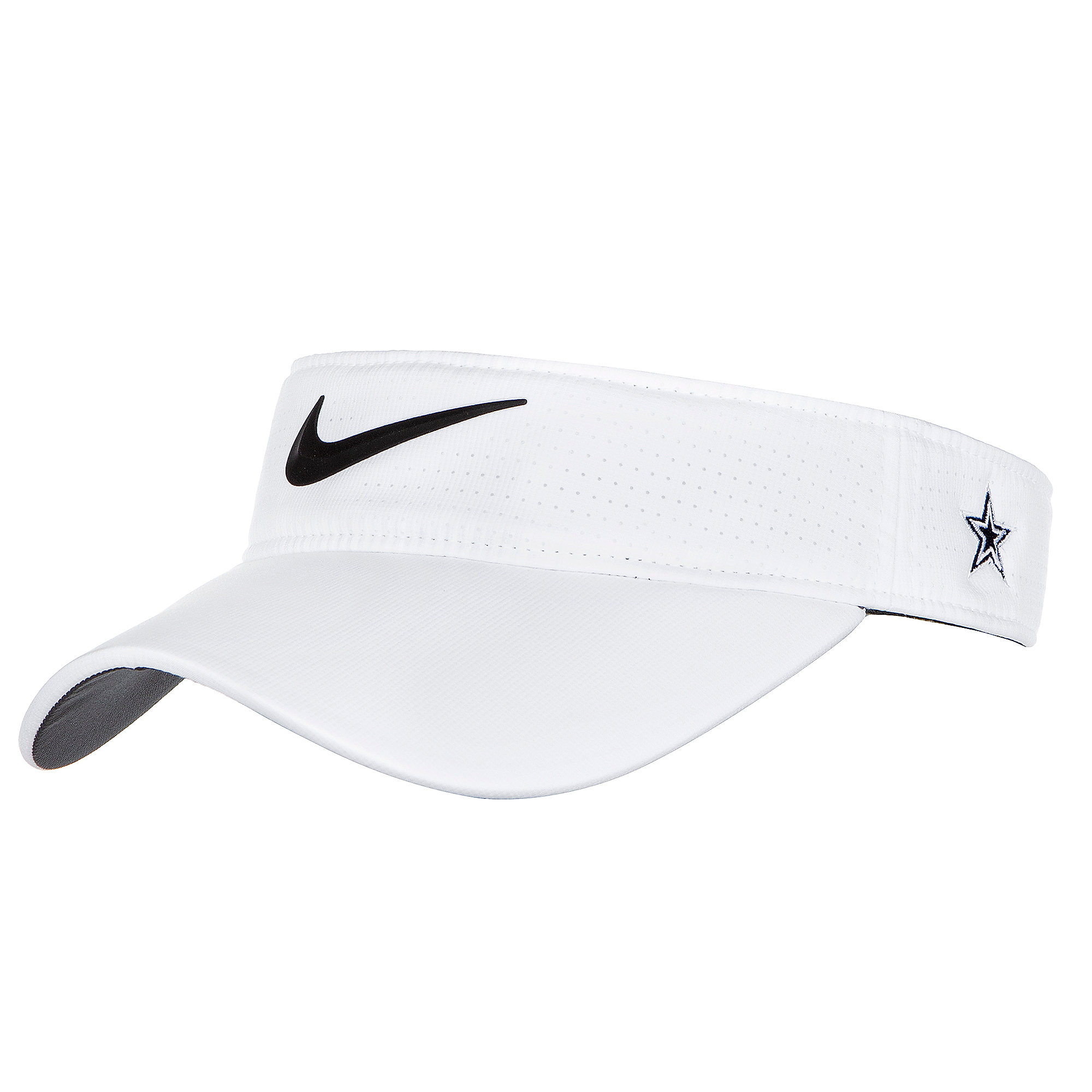 Dallas Cowboys Nike Womens White AeroBill Visor