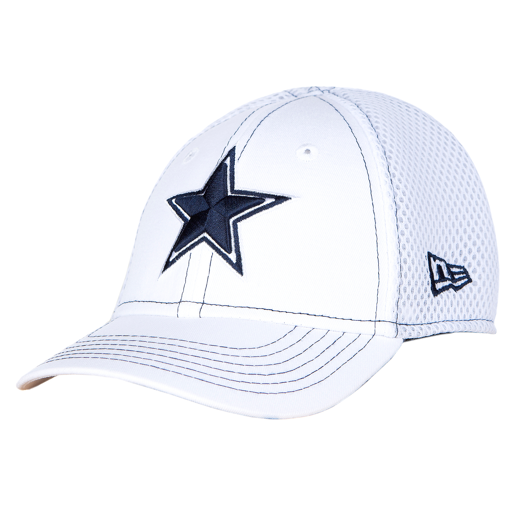 Dallas Cowboys New Era Jr White Front Neo 39Thirty Cap