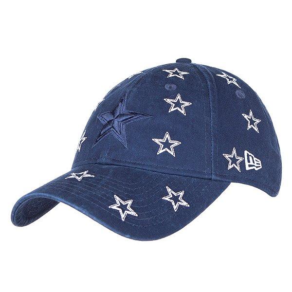 Dallas Cowboys New Era Jr Girls Logo Scatter 9Twenty Hat