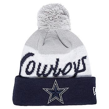 Dallas Cowboys New Era Youth Script Knit Hat