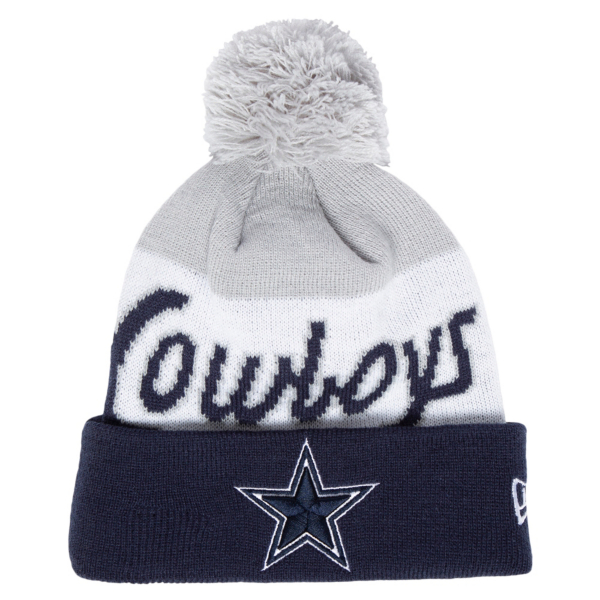 Dallas Cowboys New Era Youth Script Knit Hat
