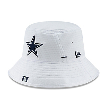 Dallas Cowboys New Era Jr Boys White Training Bucket Hat