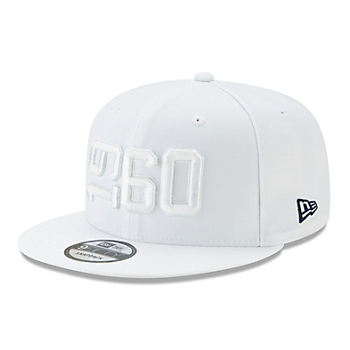 Dallas Cowboys New Era Jr Boys White On-Field Sideline 9Fifty Hat