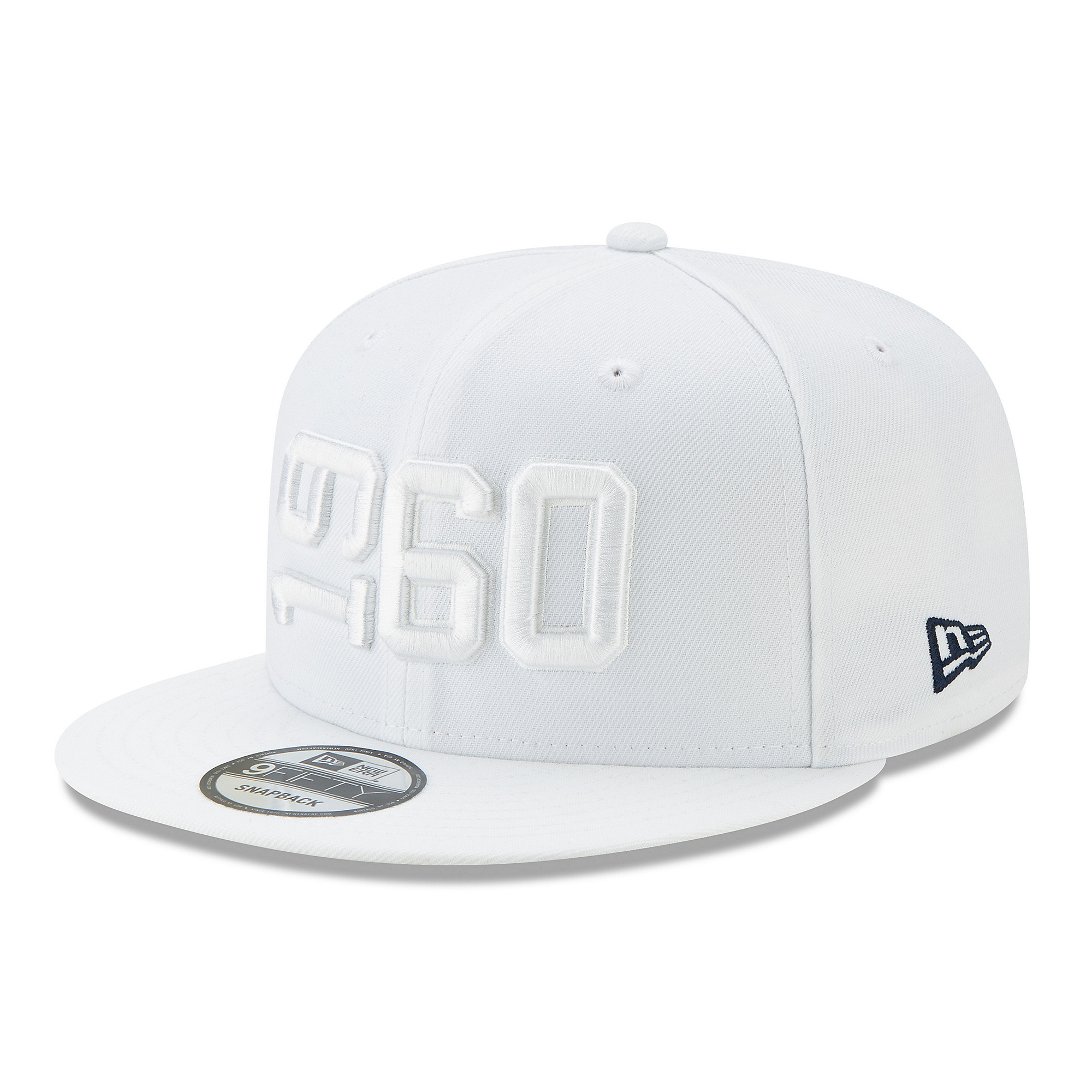 Dallas Cowboys New Era Jr Boys White On-Field Sideline 9Fifty Cap