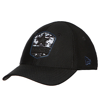 Dallas Cowboys New Era Salute to Service Youth Black 39Thirty Cap