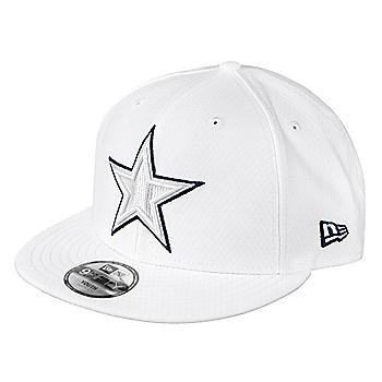 Dallas Cowboys New Era Jr Boys On-Field Platinum 9Fifty Cap