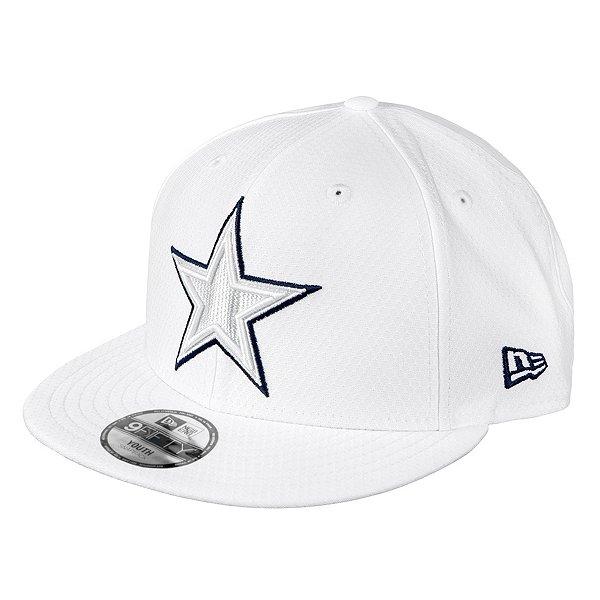 Dallas Cowboys New Era Jr Boys On-Field Platinum 9Fifty Hat