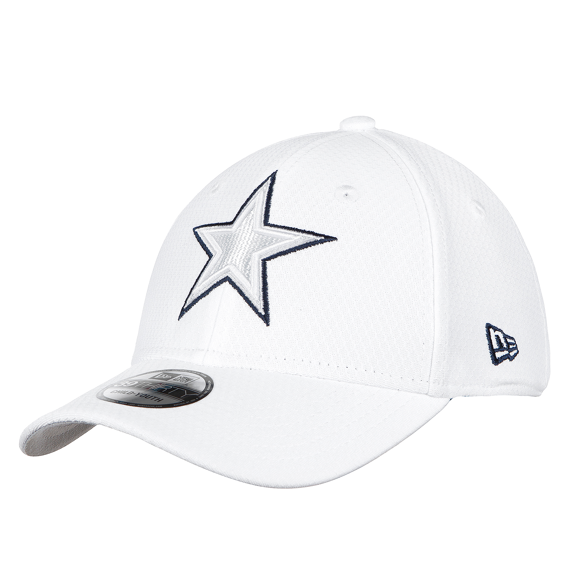Dallas Cowboys New Era Jr Boys On-Field Platinum 39Thirty Cap
