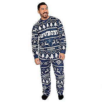 Dallas Cowboys Mens Family Holiday Pajama Set