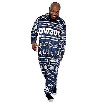 Dallas Cowboys Unisex Family Holiday Hooded Pajama Set