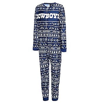 Dallas Cowboys Youth Family Holiday One-Piece Pajama Set