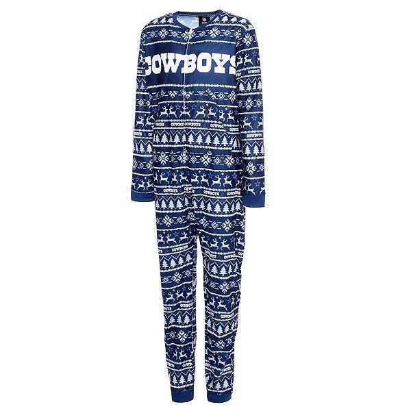 Dallas Cowboys Youth Family Holiday One-Piece Pajama Set