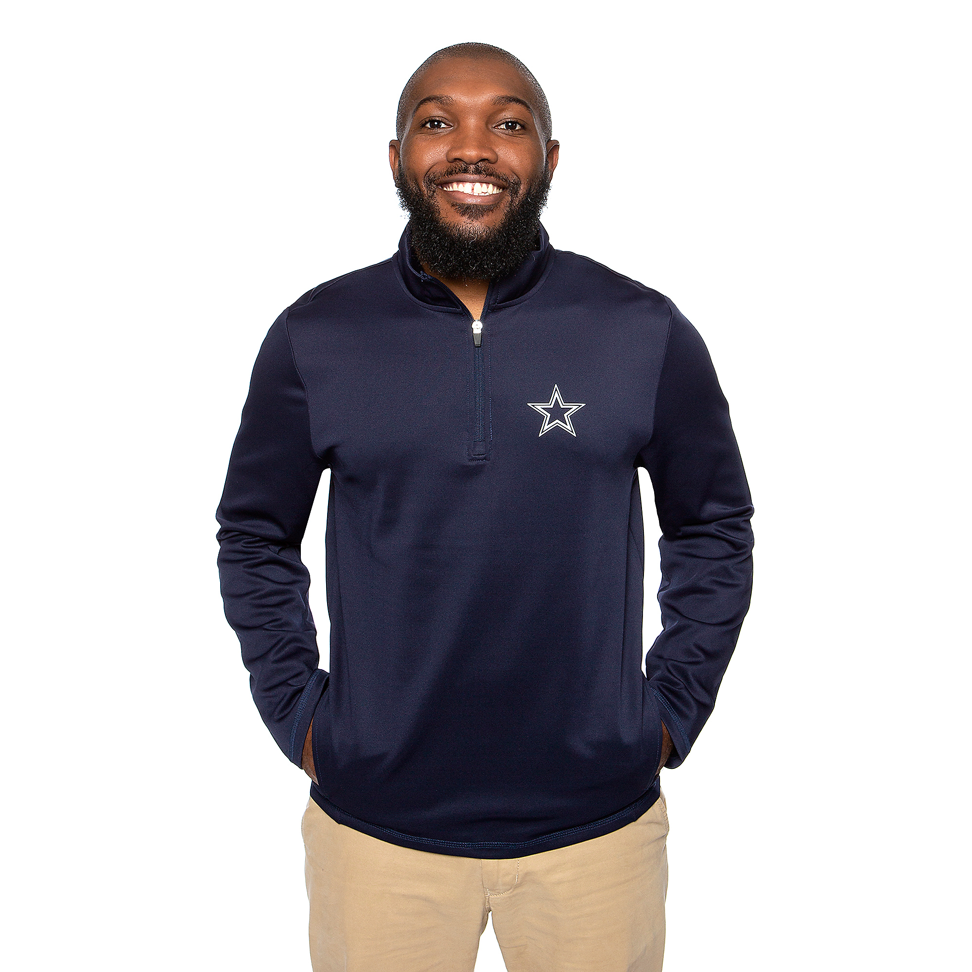 Dallas Cowboys Mens Wycliff Quarter-Zip Pullover