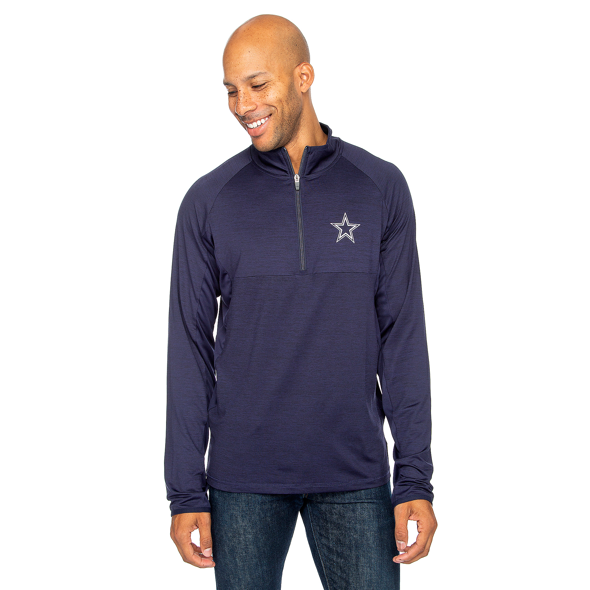 Dallas Cowboys Mens Neptune Quarter-Zip Pullover