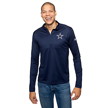 Dallas Cowboys Nike Mens Core Long Sleeve Half-Zip Top