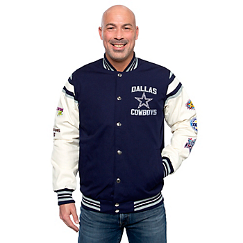 Dallas Cowboys Mens Karnes Varsity Jacket