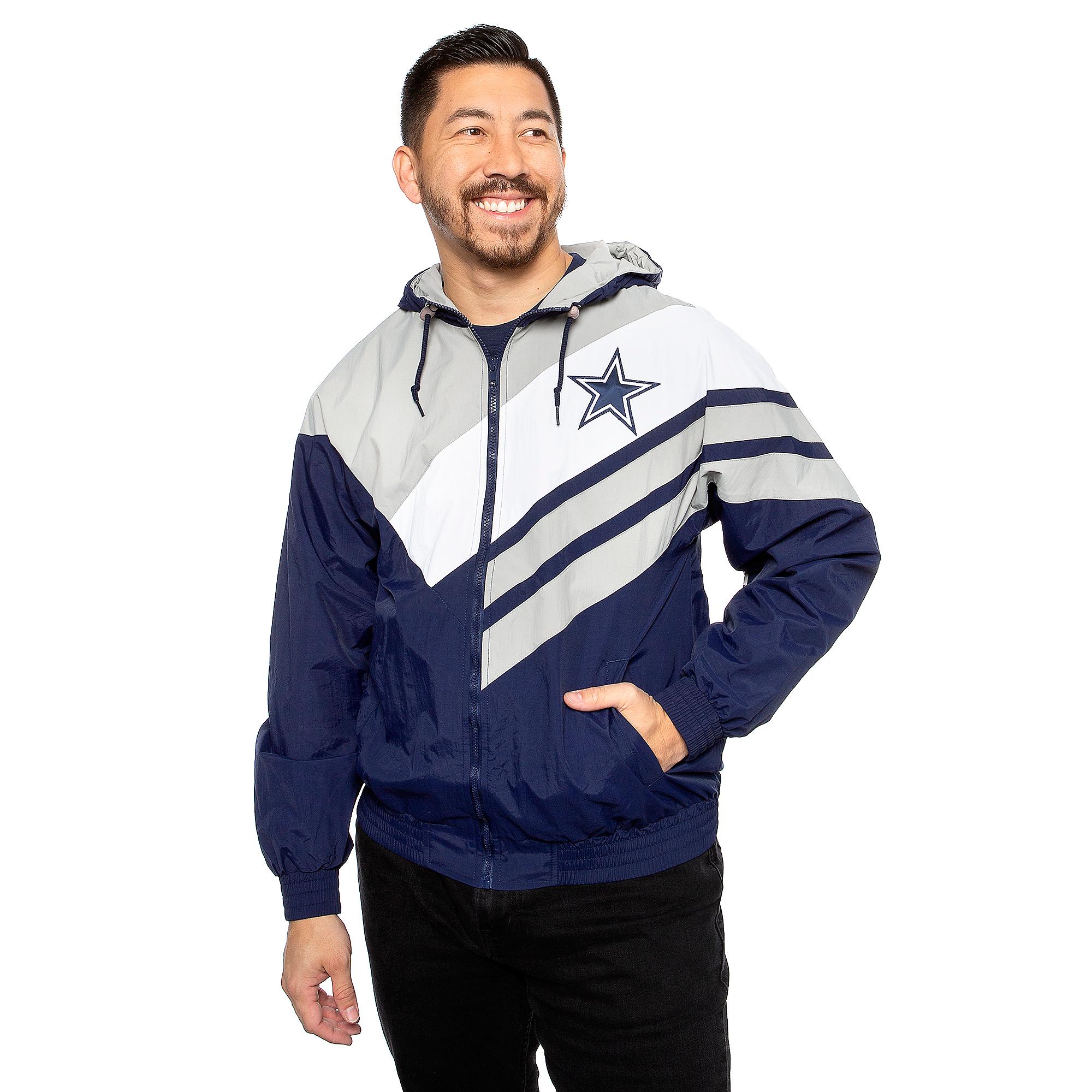 Dallas Cowboys Mitchell & Ness Mens Asymmetrical Jacket
