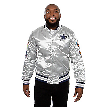 Dallas Cowboys Mitchell & Ness Mens Championship Game Satin Jacket