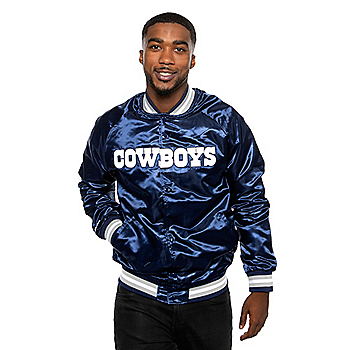 Dallas Cowboys Mitchell & Ness Mens Lightweight Satin Jacket