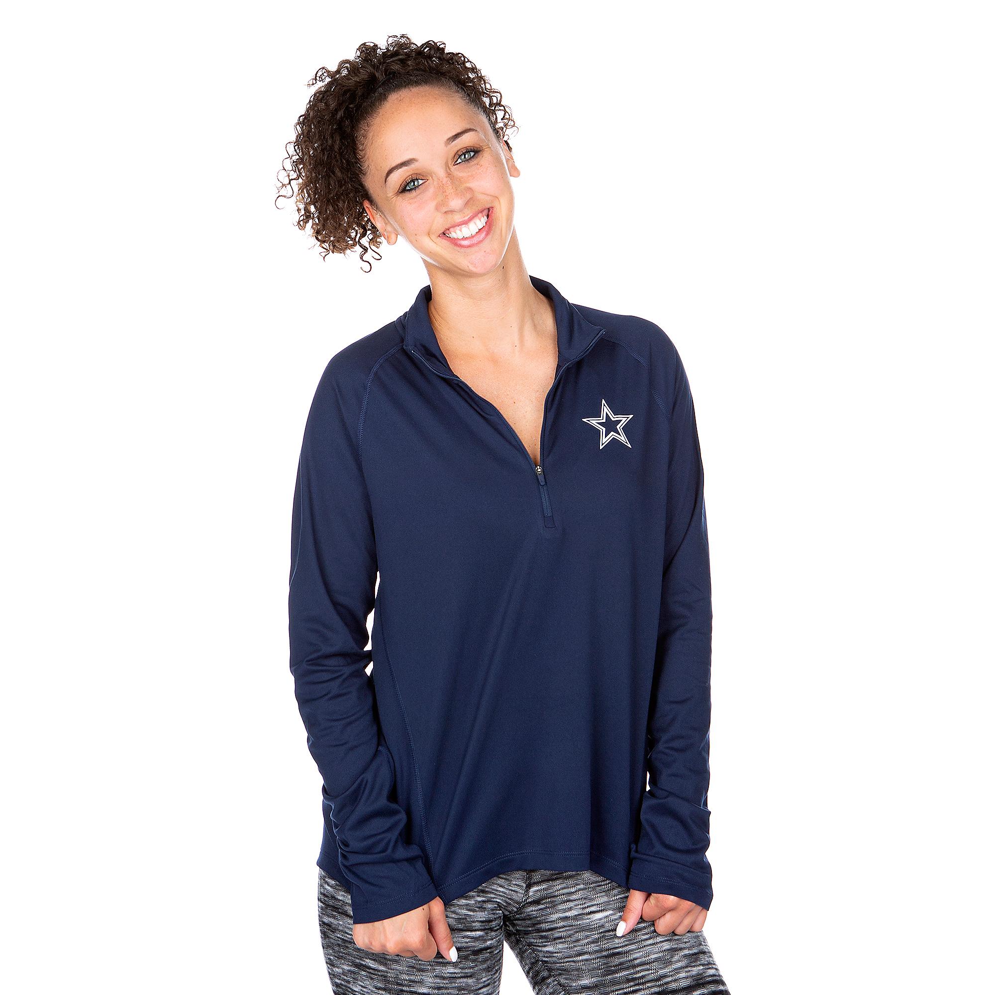 f95e459c259d9e Dallas Cowboys Nike Womens Core Half-Zip Pullover | Dallas Cowboys ...
